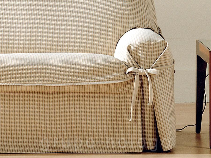 Funda de sofa universal giovanna - Fundas de sofa con lazos ...