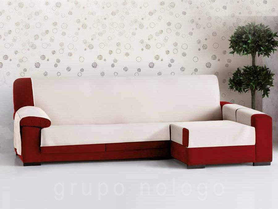 Funda sof chaise longue bianca - Funda sofa chaise longue ...